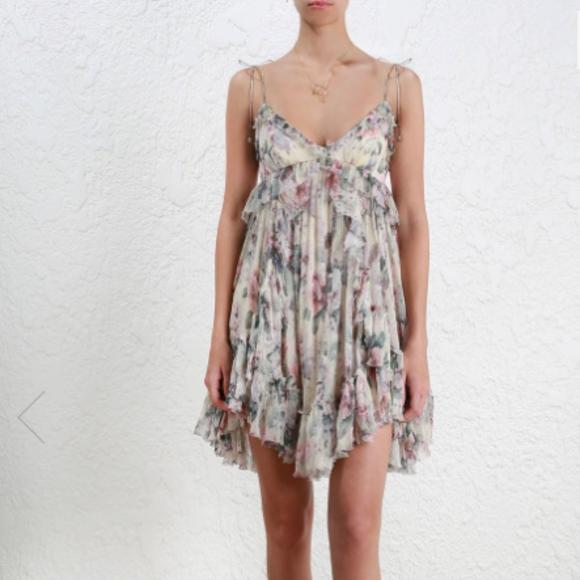 d12447f44910 Zimmermann Dresses | Jasper Floral Ruffle Mini Dress | Poshmark